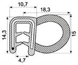 SEALING SECTION 1-3.5 mm ,13 mm bulb on side  CR (50 m)